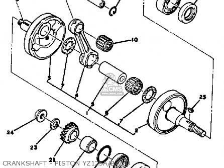 Yamaha Yz125d 1974-1977 parts list partsmanual partsfiche