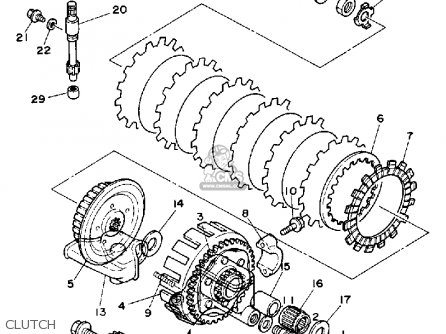 Yamaha Yz125d1 1992 parts list partsmanual partsfiche