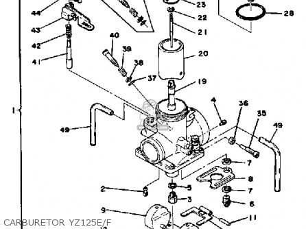 Yamaha Yz125e Competition 1978-1980 parts list partsmanual