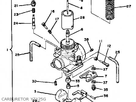 Yamaha Yz125g Competition 1978-1980 parts list partsmanual