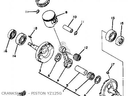 Yamaha Yz125g Competition 1978-1980 parts list partsmanual