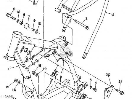 Yamaha Yz125g1 1995 parts list partsmanual partsfiche