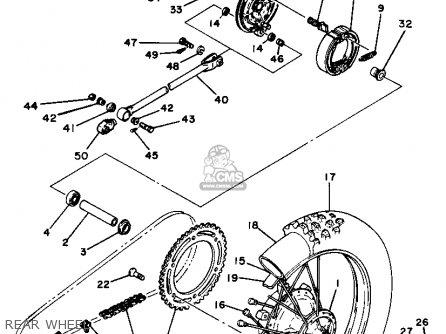 Yamaha Yz125h 1981 parts list partsmanual partsfiche
