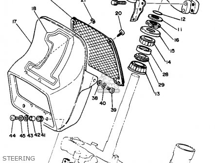 Yamaha Yz125h 1981 parts list partsmanual partsfiche