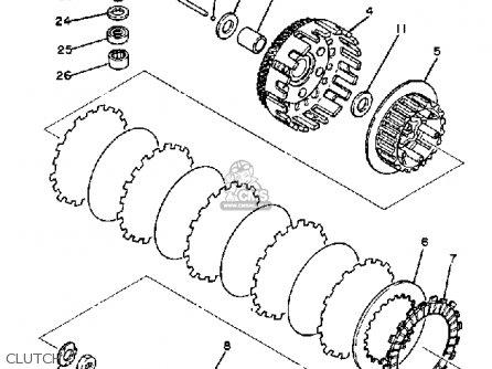 Yamaha Yz125j Competition 1982 parts list partsmanual