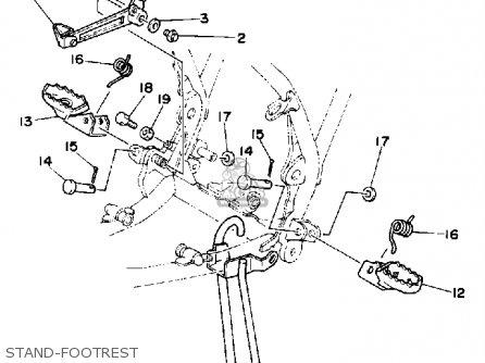 Yamaha Yz125k Off-road 1983/1984 parts list partsmanual