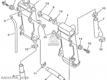 Yamaha Yz125l1 1999 parts list partsmanual partsfiche