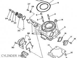 Yamaha YZ125LC 1990 3SR3 JAPAN 203SR-100E1 parts lists and