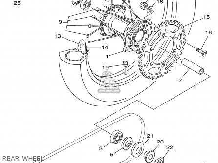 Yamaha Yz125p 2002 parts list partsmanual partsfiche
