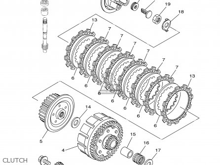 Yamaha Yz125r 2003 parts list partsmanual partsfiche