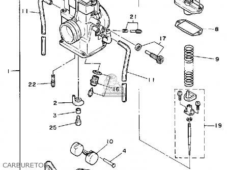 Yamaha Yz125t Competition 1987 parts list partsmanual