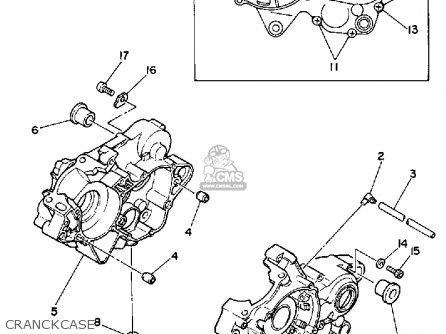 Yamaha Yz125u Competition 1988 parts list partsmanual