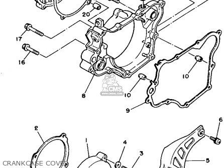 Yamaha Yz125w 1989 parts list partsmanual partsfiche