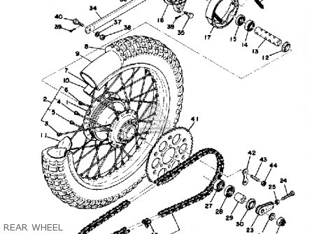 Yamaha Yz125x 1976 Usa parts list partsmanual partsfiche