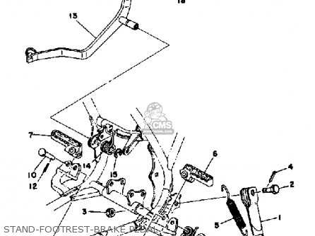 Yamaha YZ125X 1976 USA parts lists and schematics
