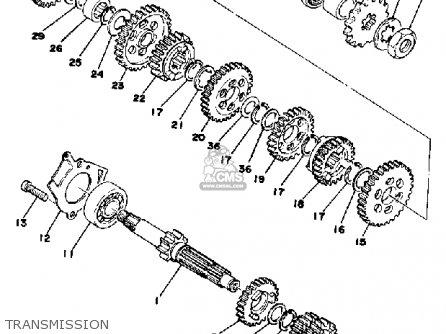 Yamaha Yz125x 1976 Usa parts list partsmanual partsfiche