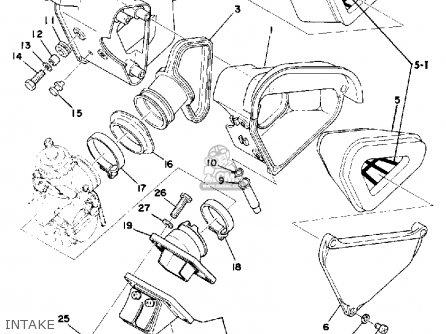Yamaha YZ175 1976 USA parts lists and schematics