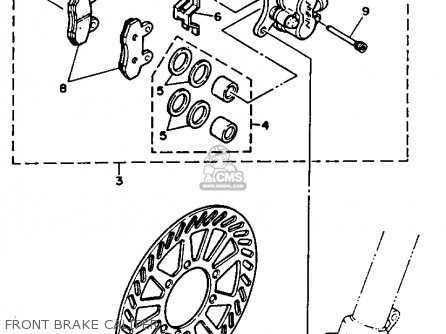 Yamaha YZ250-1 1990 (L) USA parts lists and schematics