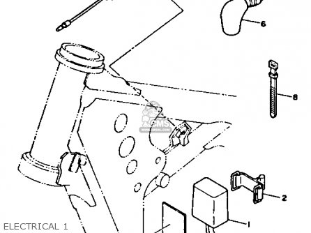 Yamaha YZ250-1 1991 (M) USA parts lists and schematics