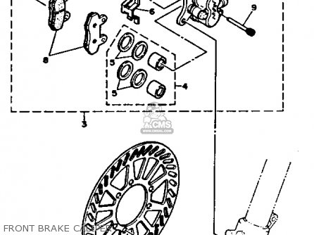 Yamaha YZ250-1 1991 (M) USA parts lists and schematics