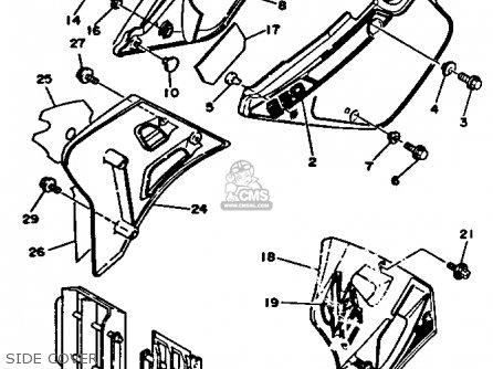 Yamaha Yz250-1 1991 (m) Usa parts list partsmanual partsfiche
