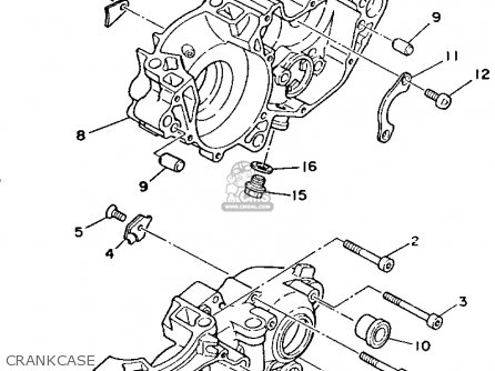 Yamaha YZ250-1 1993 (P) USA parts lists and schematics