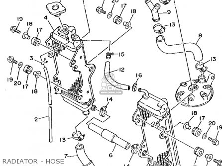 Yamaha Yz250-1 1993 (p) Usa parts list partsmanual partsfiche