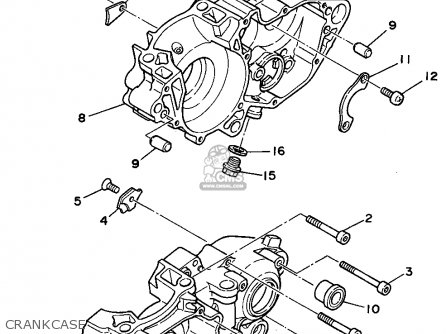 Yamaha Yz250-1 1994 (r) Usa parts list partsmanual partsfiche