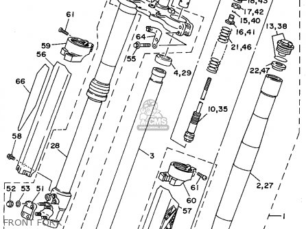 Yamaha YZ250-1 1994 (R) USA parts lists and schematics