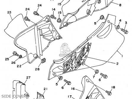 Yamaha Yz250-1 1994 (r) Usa parts list partsmanual partsfiche