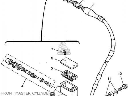 Yamaha Yz250-1 1995 (s) Usa parts list partsmanual partsfiche