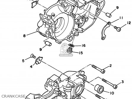 Yamaha YZ250-1 1996 (T) USA parts lists and schematics