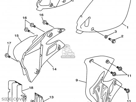 Yamaha YZ250-1 1996 (T) USA parts lists and schematics