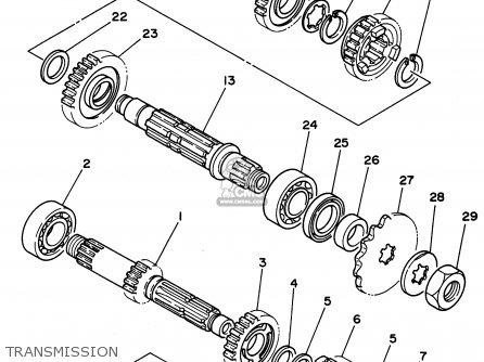 Yamaha Yz250-1 1996 (t) Usa parts list partsmanual partsfiche