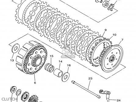 Yamaha Yz250-1 1997 (v) Usa parts list partsmanual partsfiche