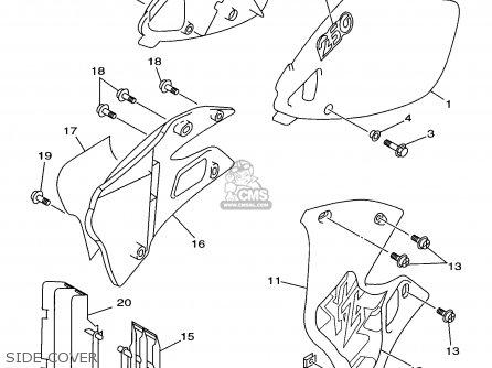 Yamaha YZ250-1 1998 (W) USA parts lists and schematics