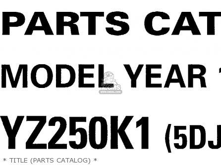 Yamaha Yz250-1 1998 (w) Usa parts list partsmanual partsfiche