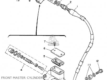 Yamaha YZ250-1 COMPETITION 1992 (N) USA parts lists and