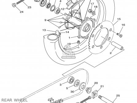 Yamaha Yz250-1 Competition 2001 (1) Usa parts list