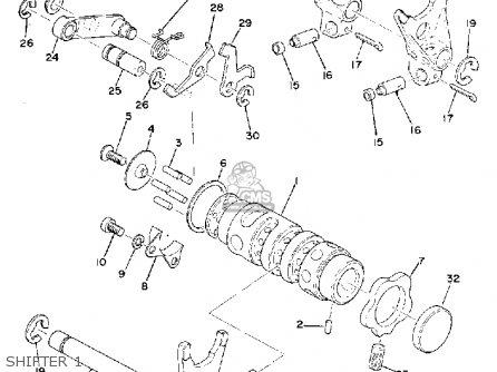 Yamaha YZ250 1974 USA parts lists and schematics