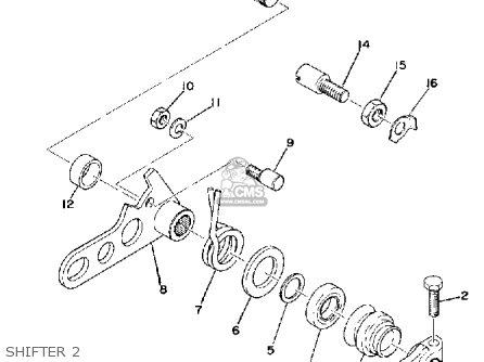 Yamaha Yz250 1974 Usa parts list partsmanual partsfiche