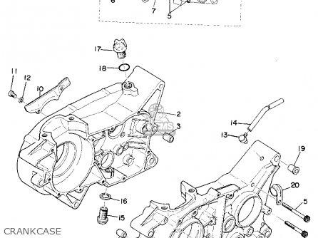 Yamaha YZ250 1975 USA parts lists and schematics