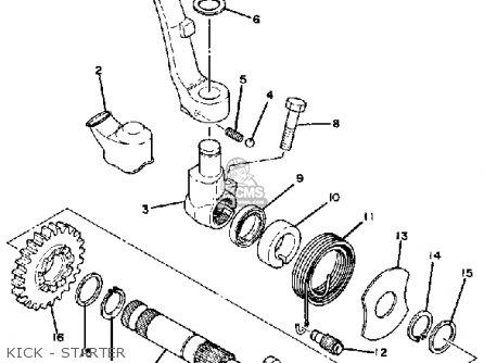 Yamaha YZ250 1979 USA parts lists and schematics