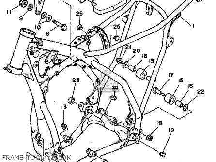 Yamaha YZ250 1983 (D) USA parts lists and schematics