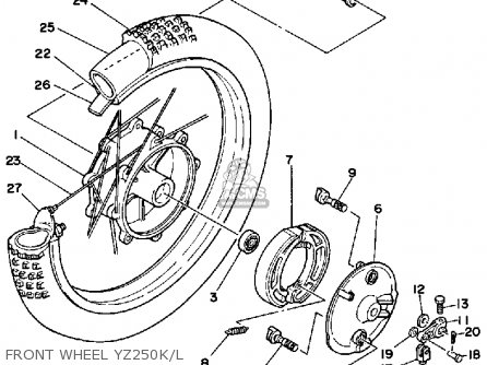 Yamaha YZ250 1983 (D) USA parts lists and schematics