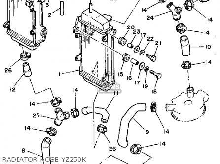 Yamaha Yz250 1983 (d) Usa parts list partsmanual partsfiche