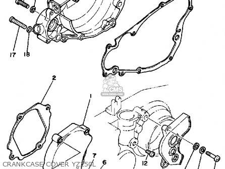 Yamaha Yz250 1984 (e) Usa parts list partsmanual partsfiche