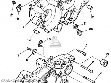 Yamaha Yz250 1984 (e) Usa parts list partsmanual partsfiche