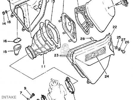 Yamaha YZ250 1985 (F) USA parts lists and schematics