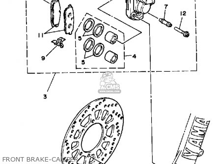 Yamaha YZ250 1986 (G) USA parts lists and schematics